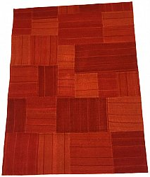 Patchwork Teppich - Superior new wool Patchwork (rot)